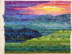 Cathy Geier's Quilty Art Blog: Making Blue Ridge Mountain Sunset