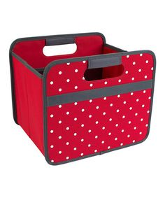 Love this Hibiscus Red Dot Foldable Storage Box on #zulily! #zulilyfinds