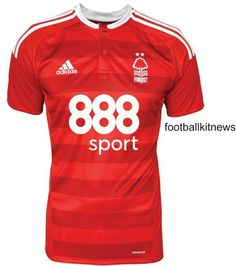The Nottingham Forest home kit introduces a smart design in red and white, made by Adidas. The new Nottingham away kit is black. Nottingham Forest Football Club, Nottingham Forest Fc, Soccer Shirts, Team Shirts, Soccer Inspiration, Forest House, Football Kits, Adidas, Home And Away