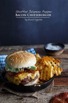 Stuffed Jalapeno Popper Bacon Cheeseburger with Avocado Ranch Dressing | http://sharedappetite.com #shop #SayCheeseburger #cbias