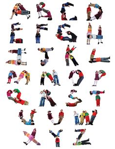alphabet letters with your body | ... Center's Preschool Room 112 Presents the 26 Letters of the Alphabet