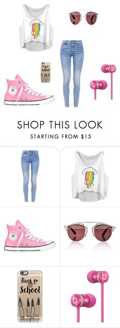 """""""Back to School"""" by ernyy ❤ liked on Polyvore featuring G-Star, Converse, Christian Dior, Casetify and Beats by Dr. Dre"""