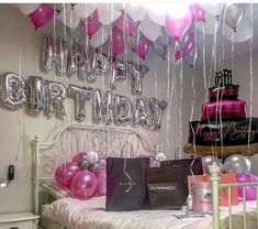 Find images and videos about birthday, gifts and ballons on We Heart It - the app to get lost in what you love. Birthday Goals, 18th Birthday Party, Birthday Photos, Birthday Bash, Birthday Wishes, Birthday Ideas, 17th Birthday Gifts, Birthday Room Decorations, Sweet 15