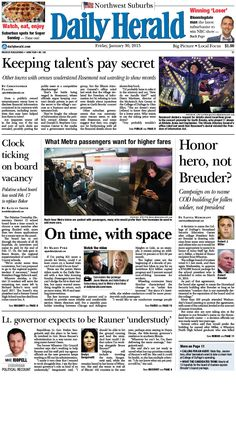 Daily Herald front page, Jan. 30, 2015; http://eedition.dailyherald.com/