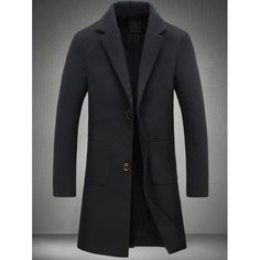 43.68$  Watch here - http://di1re.justgood.pw/go.php?t=202714709 - Plain Pocket Two Button Wool Blend Coat 43.68$