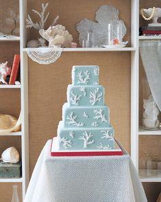 Beach Inspired Wedding Cakes  | Martha Stewart Weddings
