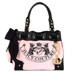 ff25b6182b74 Juicy Couture Pink and Black Scottie Daydreamer Tote - Sale