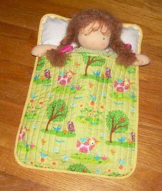 Doll sleeping bag... too cute!