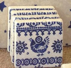 Inidual INDIGO CHICKEN natural stone by ENCOREHOMEgift & STAG natural stone tableware (various size options) by ...