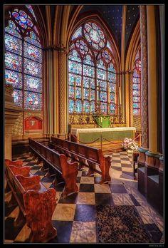 Inside a small part of Notre Dame, Paris