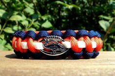 Denver Broncos Team Paracord Bracelet with an by knotcreations, $16.50
