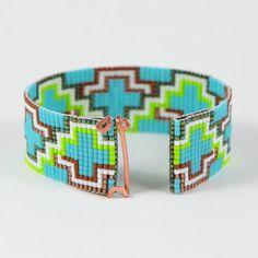 The ABQ Bead Loom Bracelet Artisanal Jewelry Native Motif