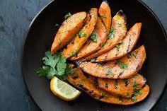 luscious grilled sweet potato with lemon dressing xx