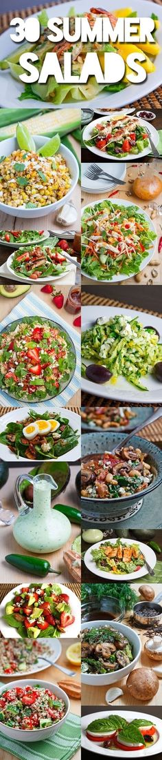 Something healthy for a change in pinning! 30 Summer Salads, id like to try … Something healthy for a change in pinning! 30 Summer Salads, id like to try these! Think Food, I Love Food, Good Food, Yummy Food, Tasty, Healthy Snacks, Healthy Eating, Healthy Recipes, Stay Healthy