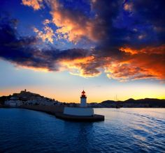 Sunset at Ibiza, with Es Vedrá at the end, Balearic islands -Spain Candle On The Water, Ibiza Sunset, Ibiza Island, Ibiza Formentera, Balearic Islands, Beautiful Sunrise, Sunset Photos, Oh The Places You'll Go, Wonders Of The World