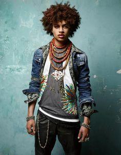 """Afro punk'd"" by Jean-Baptiste Mondino for Numéro Magazine"