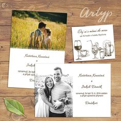 Svatební oznámení s fotkou / Zboží prodejce Artyp | Fler.cz Polaroid Film, Books, Weddings, Livros, Bodas, Hochzeit, Book, Wedding, Libri
