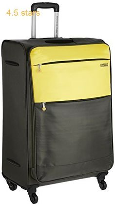 American Tourister Cheer-Lite  Polyester 78 centimeters Olive and Yellow Soft Sided Suitcase (R28 (0) 26 003)