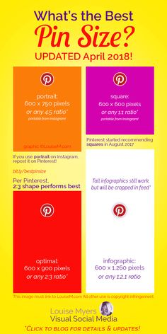 Wondering what's the best Pinterest Pin size? Pinterest is changing things up, and Pinners are confused. Click to blog for the latest!