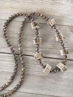 Boho Antler Necklace - Deer Antler Necklace - Antler Jewelry - Horn Necklace - Rustic Antler Necklace -Antler Jewelry for Her - Horn Jewelry