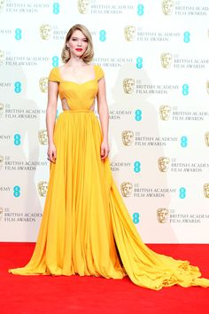Léa Seydoux in Prada  BAFTA Awards 2015: The Best Dressed Celebrities from the Red Carpet – Vogue