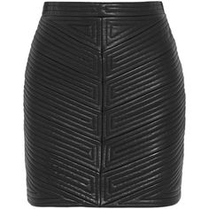 Balmain Quilted leather mini skirt (£786) ❤ liked on Polyvore featuring skirts, mini skirts, bottoms, faldas, balmain, zipper skirt, balmain skirt, short skirts and mini skirt