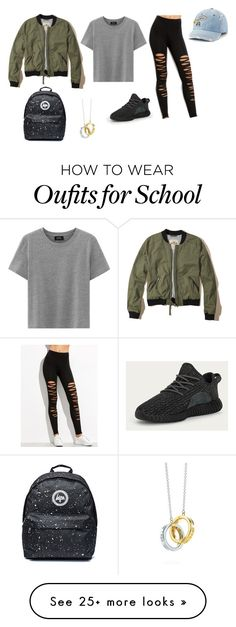 """""""Chill"""" by vroseharper on Polyvore featuring adidas, SO, Hollister Co. and Tiffany & Co."""