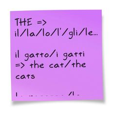 This sticky note courtesy of @Pinstamatic (http://pinstamatic.com) #the #articolodeterminativo #inglese