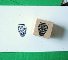 Wedgewood Porcelain Vase Rubber Stamp by norajane on Etsy, $4.00