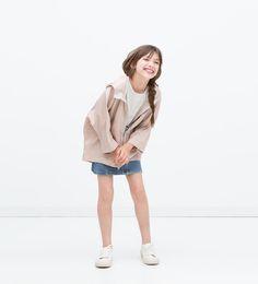 Oversized zip parka-Jackets-Girl (3-14 years)-KIDS | ZARA Thailand