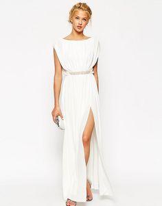 ASOS Embellished Waist Maxi Dress