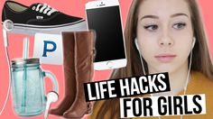 26 LIFE HACKS EVERY GIRL DEFINITELY NEEDS TO KNOW!! not the embarrassing one