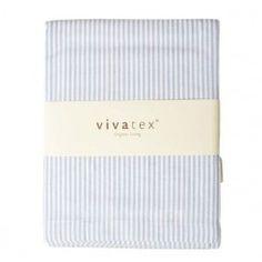 Purebaby. Baby sengetøj, Blå strib, Vivatex - Til baby og junior. 299,00 DKK. GOTS certificeret.