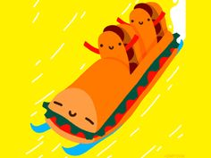 Sandwich bobsled!