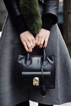 Mini Bag Trend: Sandra Hagelstam with her mini bag from Balenciaga