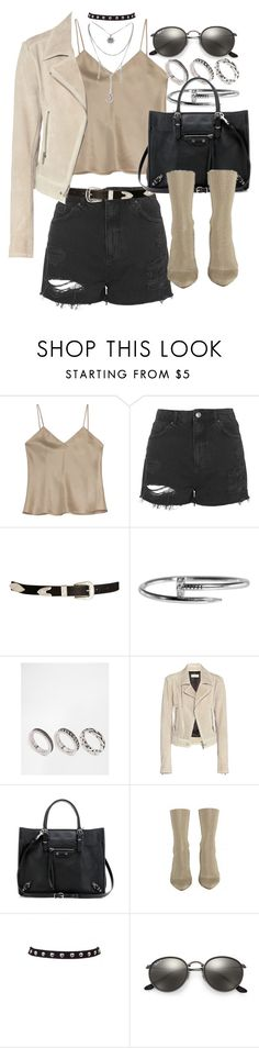 """""""Untitled #20283"""" by florencia95 ❤ liked on Polyvore featuring Etro, Topshop, ASOS, Balenciaga and Ray-Ban"""
