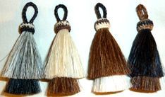 "3 3/4"" Two Bell Horse Hair Tassel"
