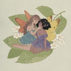 Fairy Drawings, Cute Drawings, Lesbian Art, Queer Art, Arte Sketchbook, Art Anime, Wow Art, Fairy Art, Pretty Art