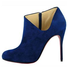 Christian Louboutin blue booties