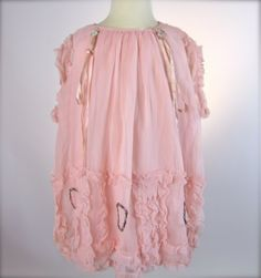 vintage frocks for little girls!  A ruffled Silk #1920's Toddler Girl's Bloomer #Dress Size 2/3T-SOLD