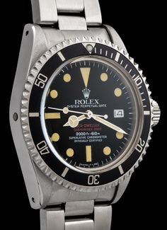 Rolex Double Red Seadweller ref.1665, manufactured in 1975.