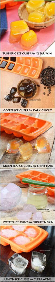 How to Get Clear Skin and shiny hair With Ice Cubes
