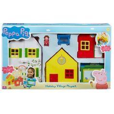 ชุดหมู่บ้าน ของเล่น Peppa Pig Holiday Village Playset