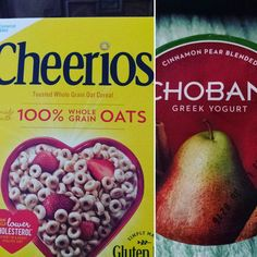 Chobani Cinnamon Pear Yogurtwith 1/3 cup of Cheerios..and plenty of water #chobani #breakfast #cheerios #portioncontrol #water #losingweight #fitfam #weightlossjourney #inspire #fattofit #weightloss #motivation #me #diet #eatclean #goals #love #food #diabetes #active #followme  by fat2fab_journey