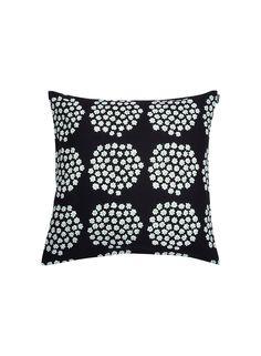 Puketti-tyynynpäällinen (musta, vihreä, valkoinen)  Sisustustuotteet, Sisustustyynyt ja tyynynpäälliset, Olohuone   Marimekko