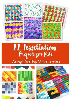 These 11 fun tessellation projects for kids are great to see how math meets art! Check out the free printables, crafts, art and more!