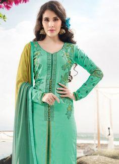 Luscious Light Green Coloured #BuypartywearsalwarsuitsonlineIndia