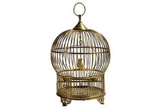 HOME DECOR – ART – ACCENT – Brass Birdcage with Porcelain Bird If life is a fabulous drama, home is a fabulous set, and needs to be staged accordingly—from the lighting to the accents to the pivotal pieces. To that end, we turned to award-winning husband-and-wife lighting design team Marcia Zia (an Emmy-nominated set decorator) and Paul Priven, whose glam Hollywood pedigree and flair fuel their treasure trove of a shop, Zia•Priven.