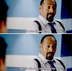 """""""So, human bomb... Must be Tuesday in Central City"""" - Joe West #TheFlash"""
