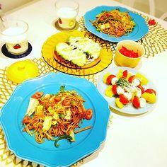 cooking_yukiko#夕飯#晩御飯#ふたりごはん#2人ごはん#ふうふごはん#夫婦ごはん#おうちごはん#お家ごはん#マニカレット#チルウィッチ#スタジオm#ファイヤーキング#焼きそば#アボガド#カプレーゼ